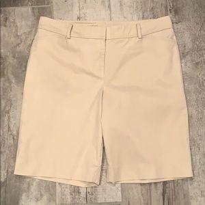 Light Khaki Bermuda length shorts